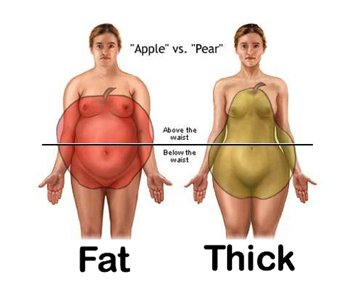 Am i fat or thick